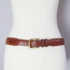 Coach brown genuine leather belt